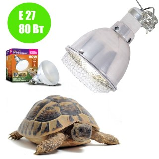 Аркадия,Свет для террариума Clamp Lamp для лампы D3 UV Basking Lamp 80 Вт (3 в 1),фото